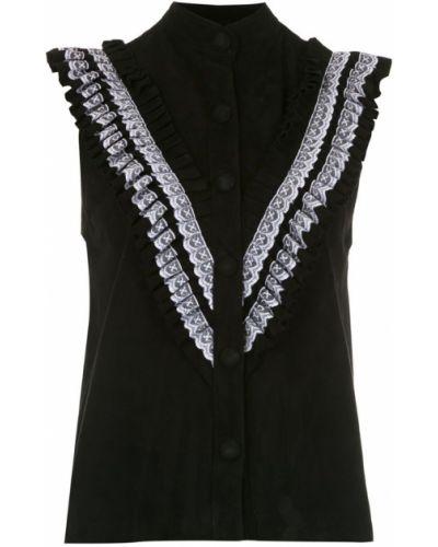 Блузка без рукавов с рюшами прямая Andrea Bogosian