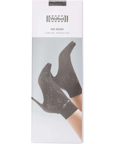 Черные носки сетчатые Wolford