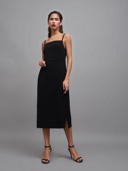 Платье на бретелях с разрезом 12storeez