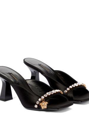 Сандалии - черные Versace