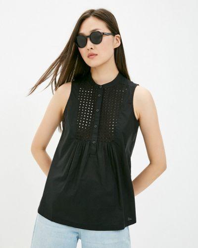 Черная блузка без рукавов United Colors Of Benetton
