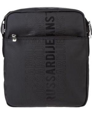 Хлопковая черная сумка для обуви Trussardi Jeans