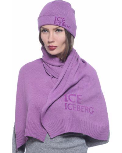 Акриловый фиолетовый шарф Iceberg