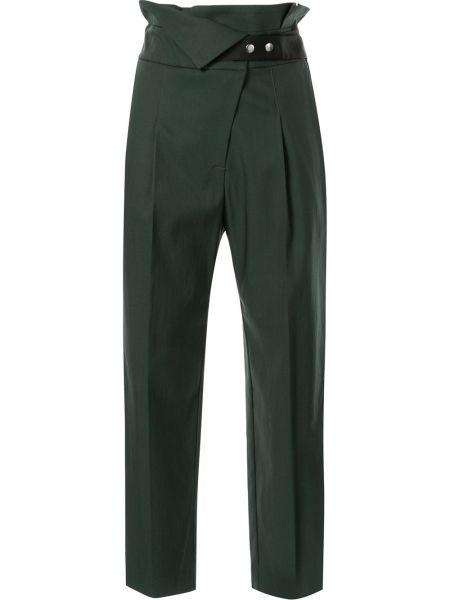 Драповые плиссированные укороченные брюки с поясом Frei Ea