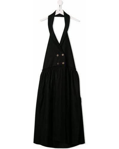 Czarna sukienka mini bez rękawów wełniana Little Creative Factory Kids