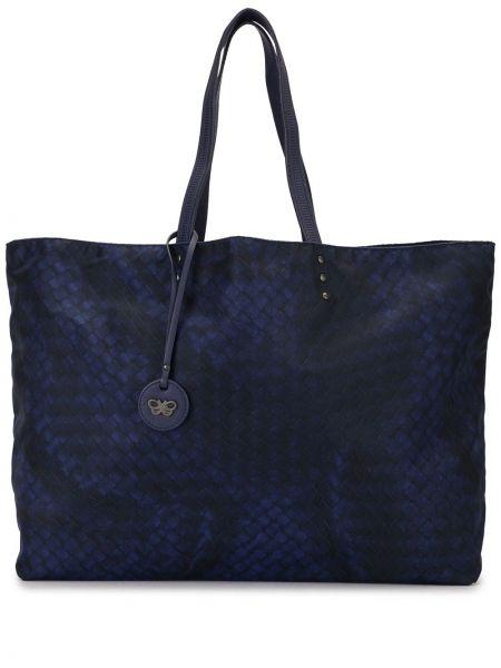 Фиолетовая нейлоновая сумка-тоут с подвесками Bottega Veneta Pre-owned