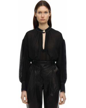 Шелковая рубашка - черная Proenza Schouler
