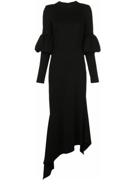 Асимметричное приталенное платье с вырезом на молнии Christian Siriano