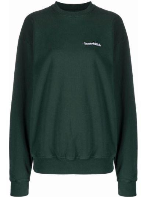 Хлопковый свитшот - зеленый Sporty And Rich