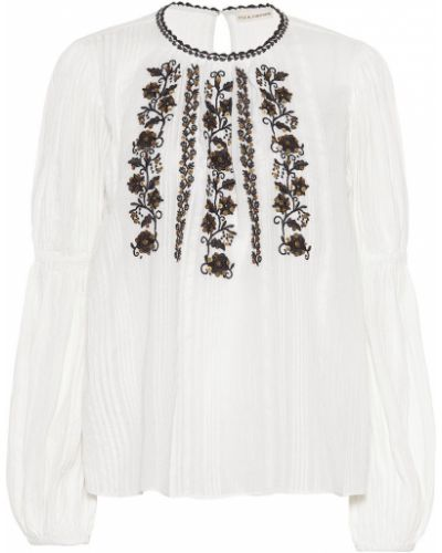 Блузка с пайетками батник Ulla Johnson