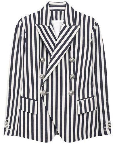 Пиджак с подкладкой в полоску на пуговицах Balmain