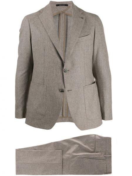 Klasyczny garnitur kostium beżowy Tagliatore