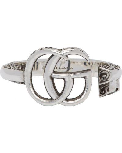 Otwarty srebro pierścień Gucci
