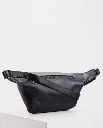 Кожаная черная поясная сумка Karl Lagerfeld