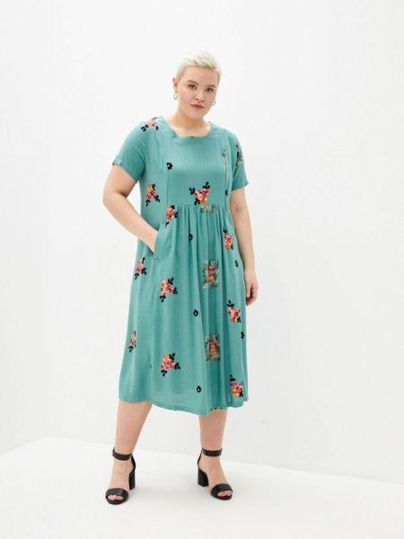 Повседневное платье зеленый весеннее Milanika