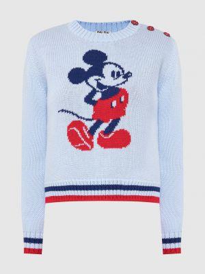 Шерстяной свитер - голубой Miu Miu