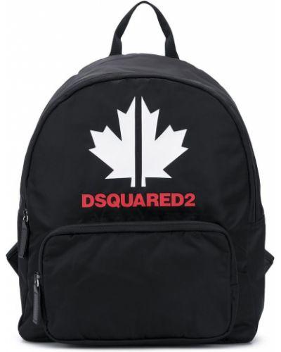Черный рюкзак с карманами на бретелях Dsquared2 Kids
