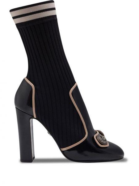 Czarne wysoki skarpety bawełniane Dolce And Gabbana
