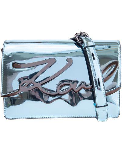 Кожаная сумка маленькая с клапаном Karl Lagerfeld