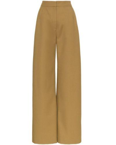 Свободные брюки зеленый с карманами Vika Gazinskaya