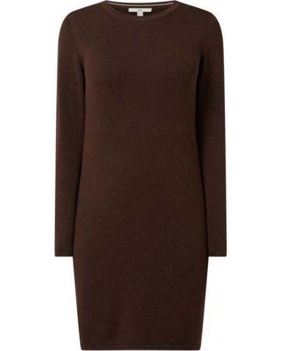 Brązowa sukienka z wiskozy Edc By Esprit