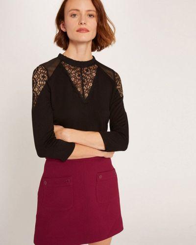Черная блузка с длинными рукавами Morgan