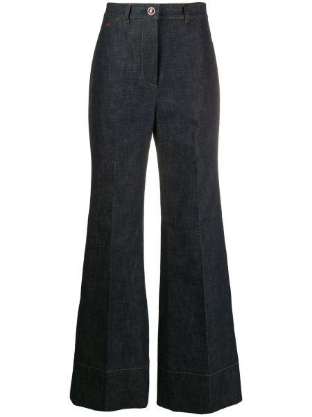 Расклешенные джинсы на пуговицах с карманами Victoria Beckham