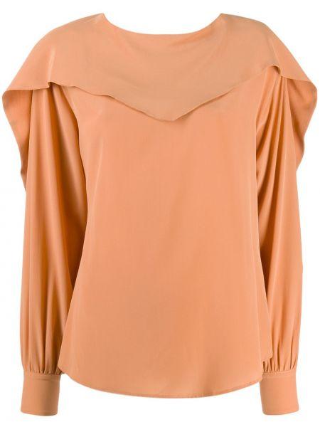 Блузка в полоску персиковый Erika Cavallini