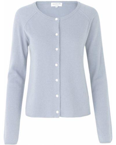Niebieski sweter zapinane na guziki Rosemunde