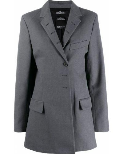 Прямой удлиненный пиджак с карманами Rokh
