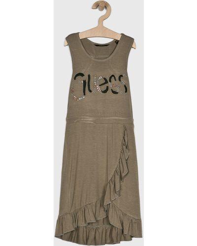 Платье однотонное с аппликациями Guess Jeans