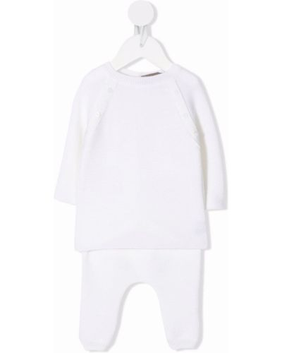 Biały dres prążkowany Little Bear