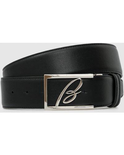 Черный кожаный ремень Brioni