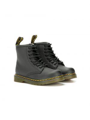 Кожаные черные сапоги на шнуровке Dr. Martens Kids