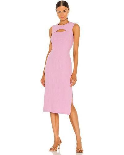 Текстильное розовое вечернее платье с американской проймой Bcbgeneration