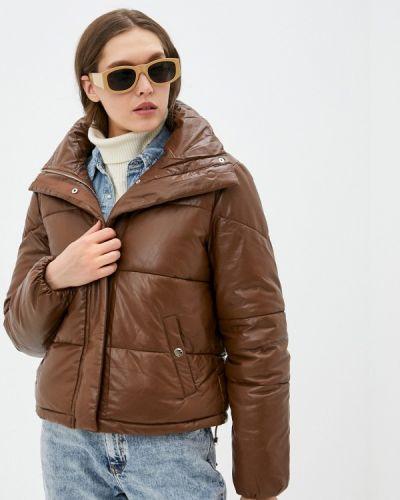 Коричневая кожаная куртка Softy