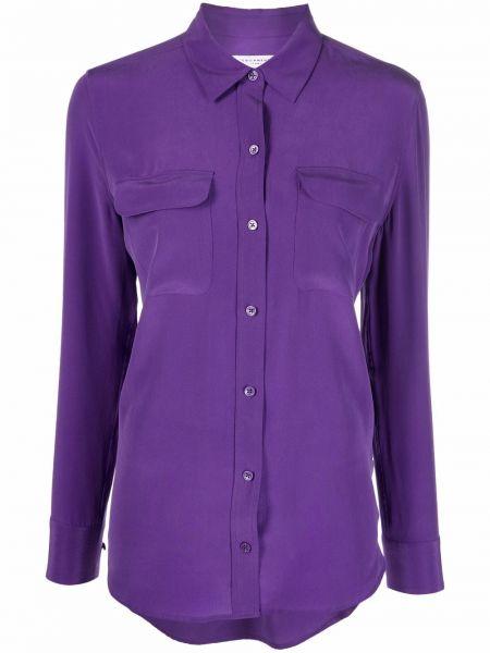 Фиолетовая шелковая рубашка Equipment