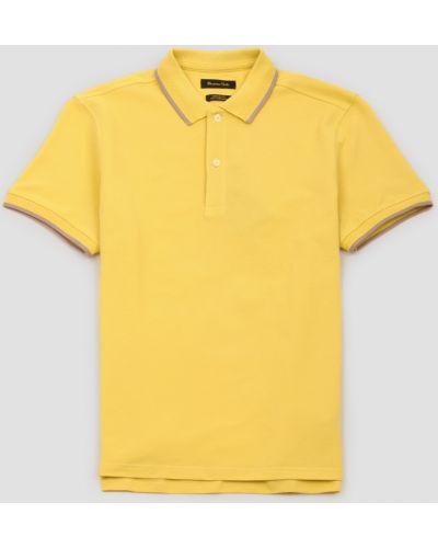Желтый поло с короткими рукавами Massimo Dutti