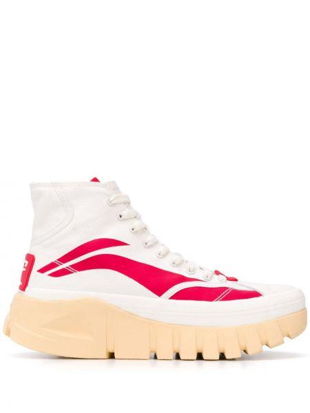 Wysoki sneakersy białe z logo Li-ning