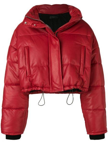 Кожаная куртка дутая на молнии Amiri