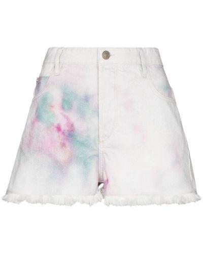 Хлопковые белые с завышенной талией джинсовые шорты Isabel Marant étoile