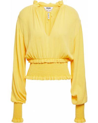 Желтая свитер из вискозы Msgm