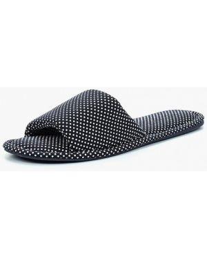 Черные текстильные тапочки Marks & Spencer