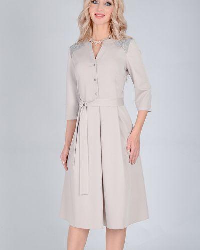 Платье с поясом на пуговицах на молнии Open Fashion Premium