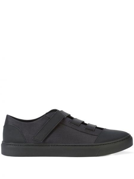 Czarne sneakersy skorzane Yohji Yamamoto