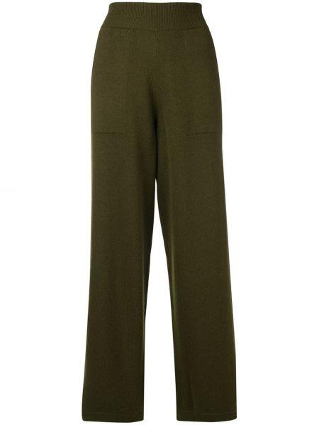 Кашемировые зеленые свободные брюки свободного кроя Barrie