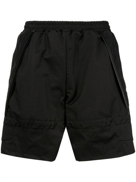 Czarne krótkie szorty bawełniane Cottweiler