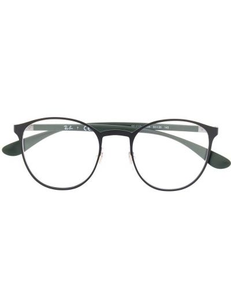 Prosto zielony oprawka do okularów metal okrągły Ray-ban