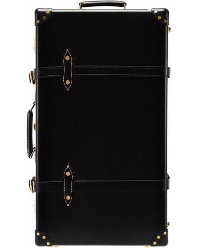 Кожаный черный чемодан с подкладкой Agent Provocateur