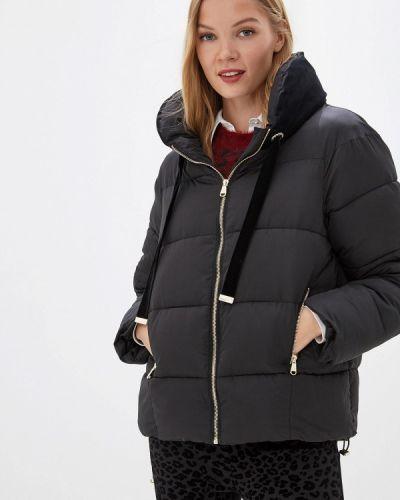Утепленная куртка демисезонная черная Love Republic